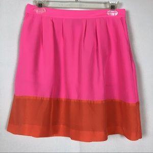 J.Crew Pink & Orange Skirt w/Pockets